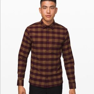 "Masons Peak Burgundy Gingham ""M"" NWOT"